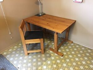 Drafting table with chair