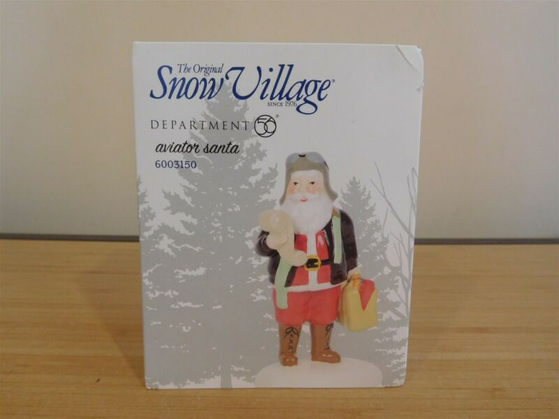 Dept 56 Snow Village - Aviator Santa - NIB - Free Shipping