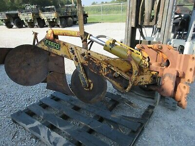 John Deere Dozer Fire Plow Fesco 350c Good Shape 450 Attachment Brake