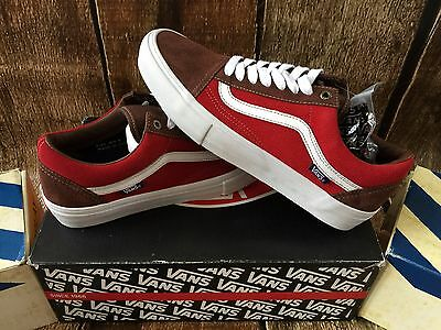 d145c3510e VANS OLD SKOOL PRO SUEDE POTTING SOIL JESTER RED MENS SIZE 9 UK 8.5 EUR 42