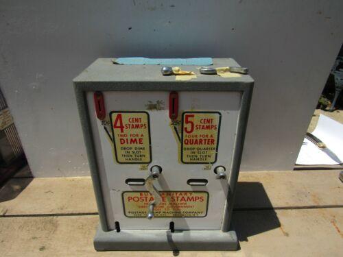 VINTAGE U.S. POST OFFICE PORCELAIN POSTAGE STAMP VENDING MACHINE