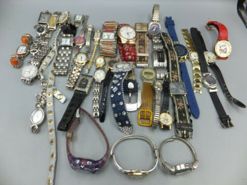 Lot Of 30+ Geneva, Guess, Unbranded Womens / Mens Fashion Watches - Sold As-Is