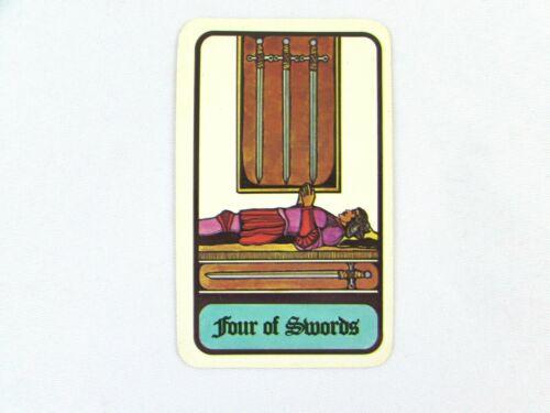 Vintage 1972 Hoi Polloi Tarot *Single Replacement Card* Four of Swords