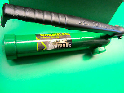 Greenlee Hydraulic Hand Pump In Nice Condition Fast Shipping Guaranteed