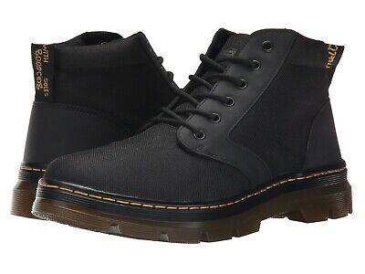 Men's Shoes Dr. Martens BONNY 6 Eye Nylon Waxy Canvas Ankle Boots 20377001 BLACK