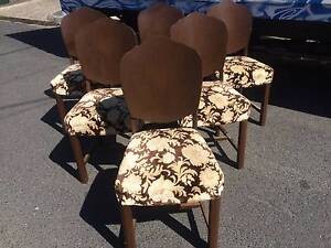 Dining Chairs  x 6, art deco, vintage, chairs, kitchen WE DELIVER Brunswick Moreland Area Preview