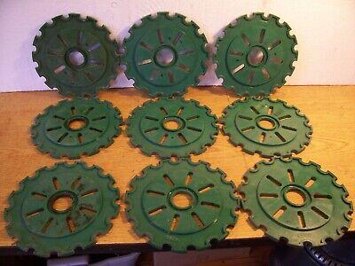 9 Plastic Lustran Ih Planter Plates 6c13 3c13-16 Green Lot J
