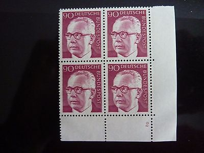 Briefmarke Bundesrepublik Michel-Nr. 643 postfrisch Eckrand-Viererblock