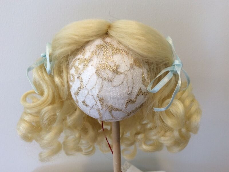 """9"""" Light Blonde Synthetic Mohair Wig with Hand Tied Middle Part"""