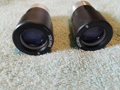Microscope Part Eyepiece Mitutoyo Japan Swf 30x Optics Objectives Set Of 2