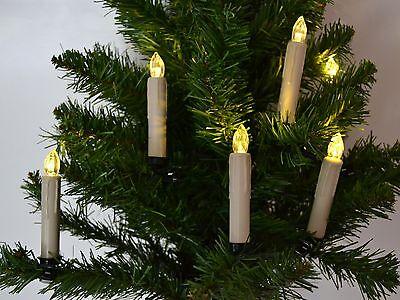 Qvc Weihnachtsbeleuchtung Kabellos.Lumida Xmas Christbaumkerzen Timer Fernbedienung K