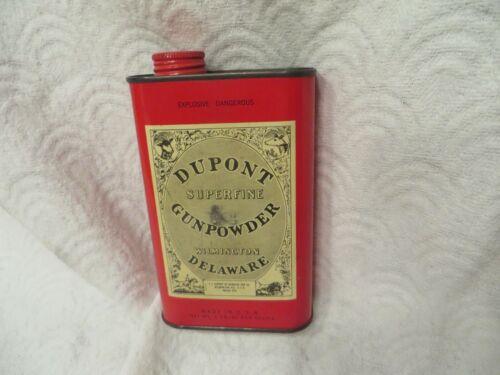 Vintage DuPont Super Fine Gun Powder Tin (Empty)