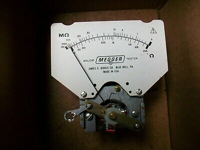 New Biddle Megger Major Test Replacement Meter