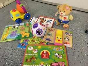 Lot de jouet, casse tête, camion Fisher Price, ourson a bobo
