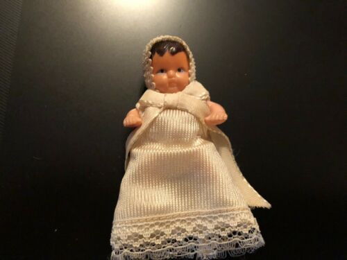 Dollhouse Shackman Vintage Baby Doll Christening Dress Gown HTF RARE EXCELLENT
