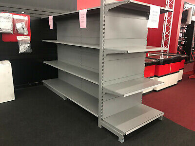 Metal Gondola Shelving Gray Listing For Single-sided 4 X 6 Complete Section