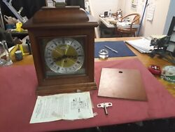 Wuersch Mantle Clock. Franz Hermle Westminister H 340-020. W/Key + Instr. NM+