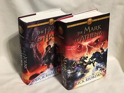 Heroes of Olympus: The Mark of Athena & House of Hades (HB) Rick Riordan 1st