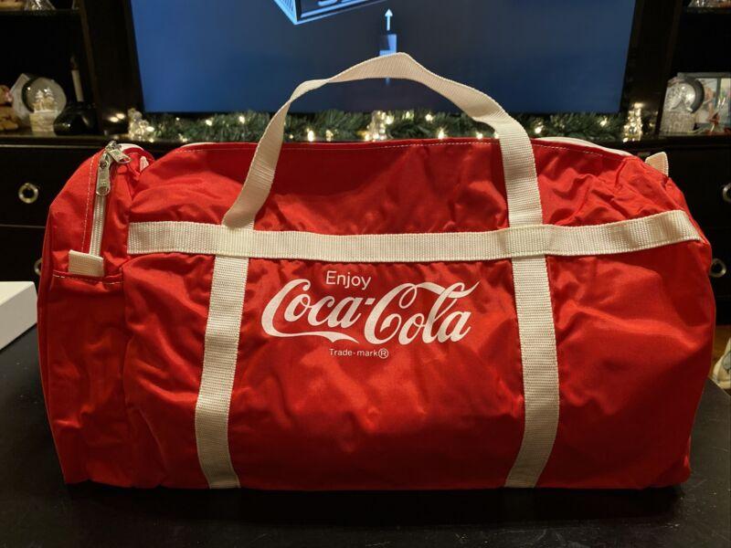 Vintage Coca Cola Duffle Gym Bag Red