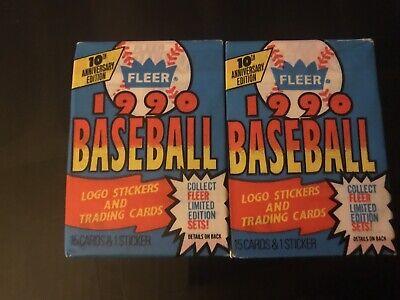 1990 Fleer Baseball MLB UNOPENED PACKS X2 🔥🔥