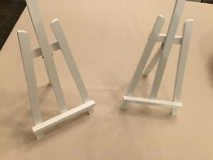 Small white easel