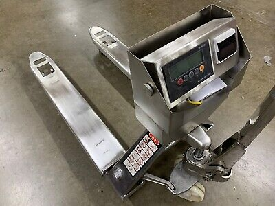 Stainless Steel Pallet Truck Pallet Jack Scale With Built-in Printer 5000