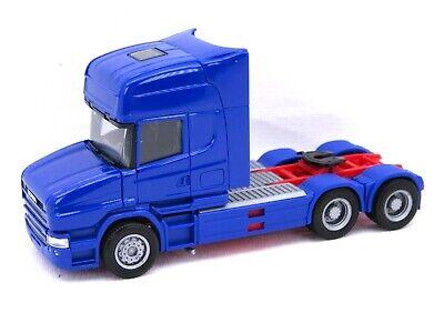 HERPA Modell 1:87/H0 LKW Zugmaschine Scania Hauber TL 6×4, blau #151726-007