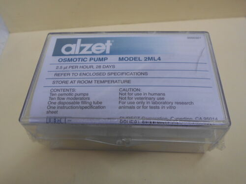 BOX OF 10 ALZET MODEL 2ML4 2.5 µL/HR 28 DAY LABORATORY RESEARCH OSMOTIC PUMPS #2