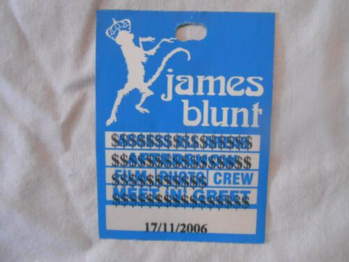 James Blunt  Tour Silk  Backstage Pass with FREE SHIPPING