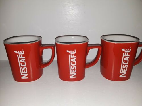 Vintage NESCAFE Red Coffee Cup, Mug 12 Oz, square