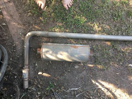 Exhaust pipe with new muffler