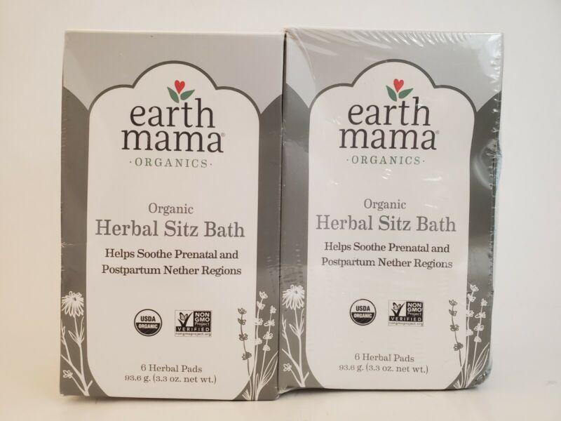 2x Earth Mama Organic Herbal Sitz Bath Soothing Pads Pregnancy Postpartum exp-22