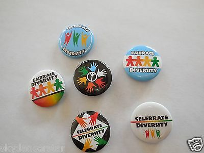 2 Embrace Celebrate Diversity Button Pin Donate To Vet Feed Feral Cats Rescue