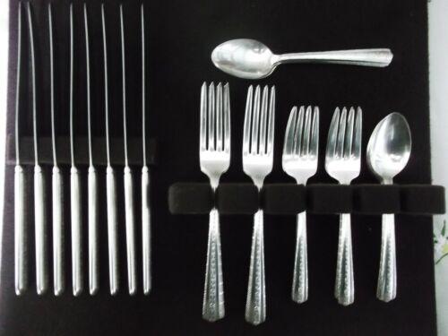 """Wallace Bros. Silver Plate, 32 Pc. serves 8, """"Roseanne/Knickerbacker""""  C. 1938"""
