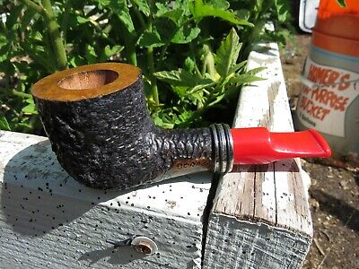 Custom made poker pipe, Brian Doran, Briar Stubby Poker, New Unsmoked