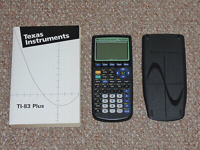 1990s Texas Instruments TI-83 Plus Graphing Calculator with Cover & Manual