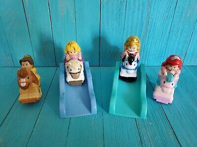 4 Fisher Price Little People Disney Princess Klip Klop Horse Clip Clop w ramps