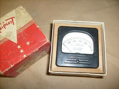 Triplett Panel Meter 327-t 0-500 Dc Milliamperes From Ham Radio Estate W Box