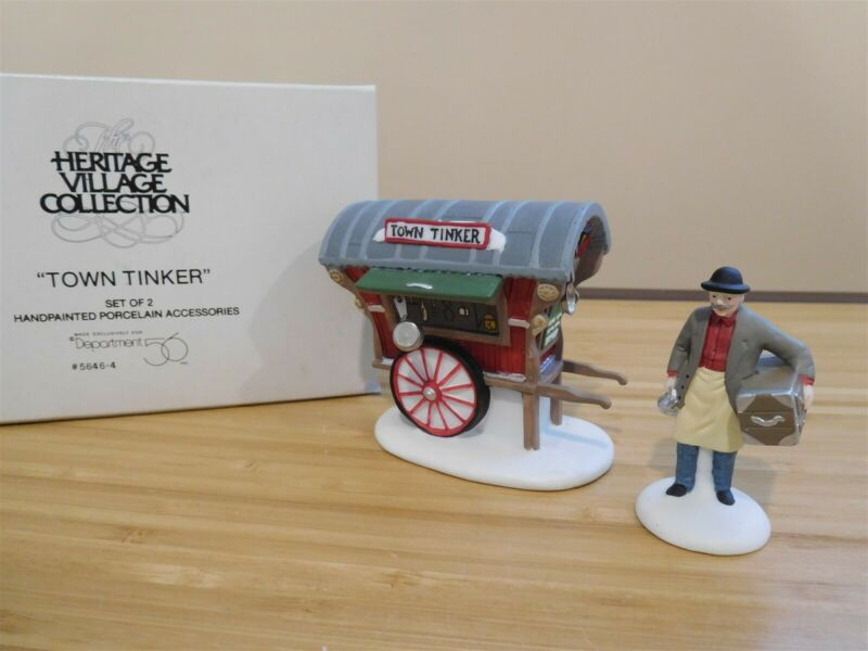 Dept 56 New England Village - Town Tinker - Set of 2 - Free Shipping