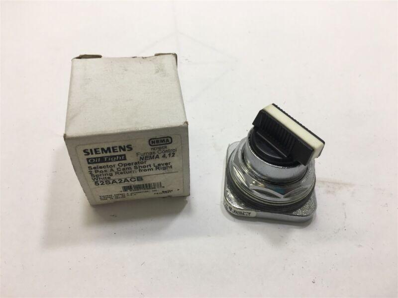 Siemens 52Sa2Acb 2 Postion Selestor Switch