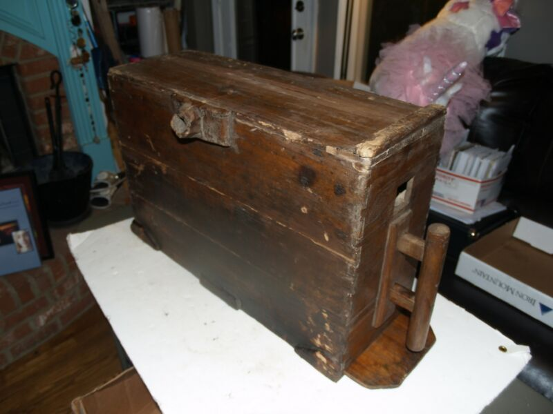 Antique Korean Chinese Asian Blacksmith Wood Bellows Box