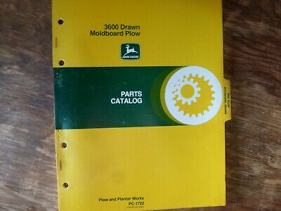 John Deere 3600 Drawn Moldboard Plow Parts Catalog Manual Original Pc-1722
