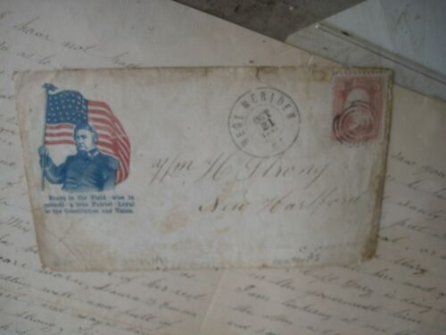 Oct 21, 1861 Civil War Letter with Patriotic Envelope