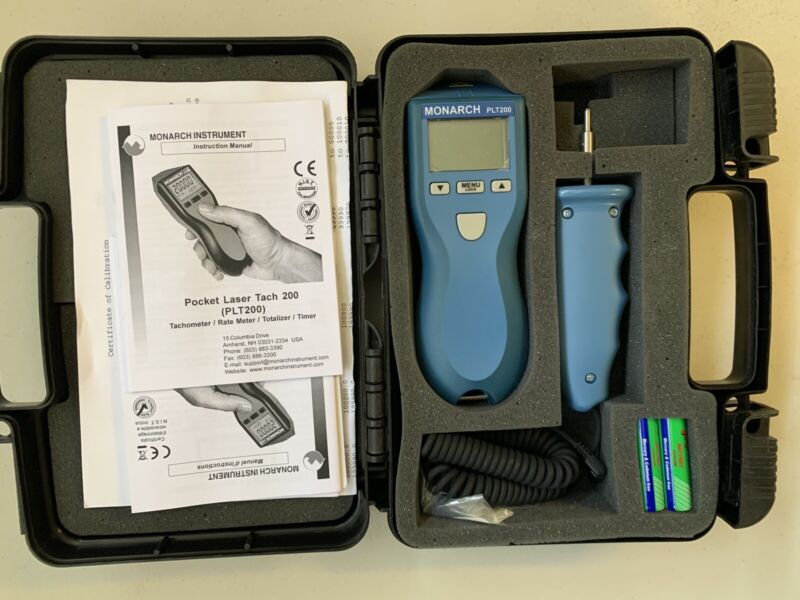 Monarch PLT200 Pocket Laser Tachometer with Contact Attachement
