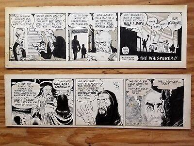 CASEY RUFFLES by Warren Tufts, 2 Original comic strips art. 1950 & 1951.