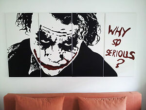 Batman Joker Bild Pop Art Gemälde Canvas 100x200cm no cd dvd 39,4