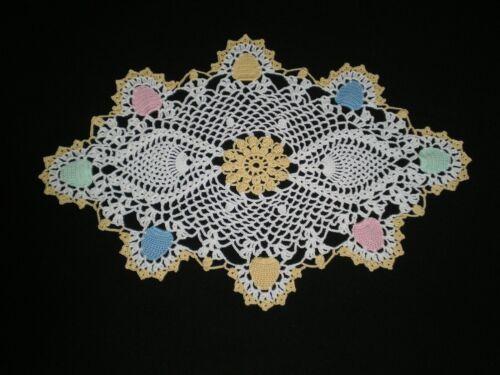 New Hand Crocheted Doily Easter Eggs