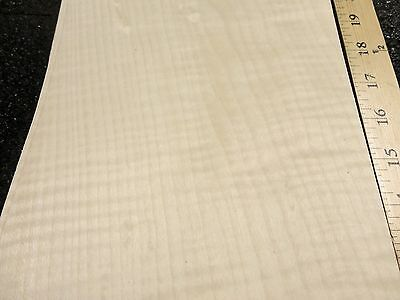 Curly Maple Figured Quilted Wood Veneer 7 X 29 Raw No Backing 142 Thickness