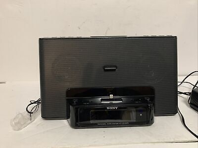 SONY ICF-CS15iPN Speaker Dock/Clock Radio For iPod & iPhone  Preowned