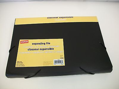 Poly Expanding File, Letter, Black, 13 Pockets, A-Z Jan - Dec Blank Tabs (10769) Expanding File Jan Dec Tabs
